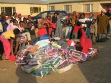 The team donated blankets to the siyakhula children's home