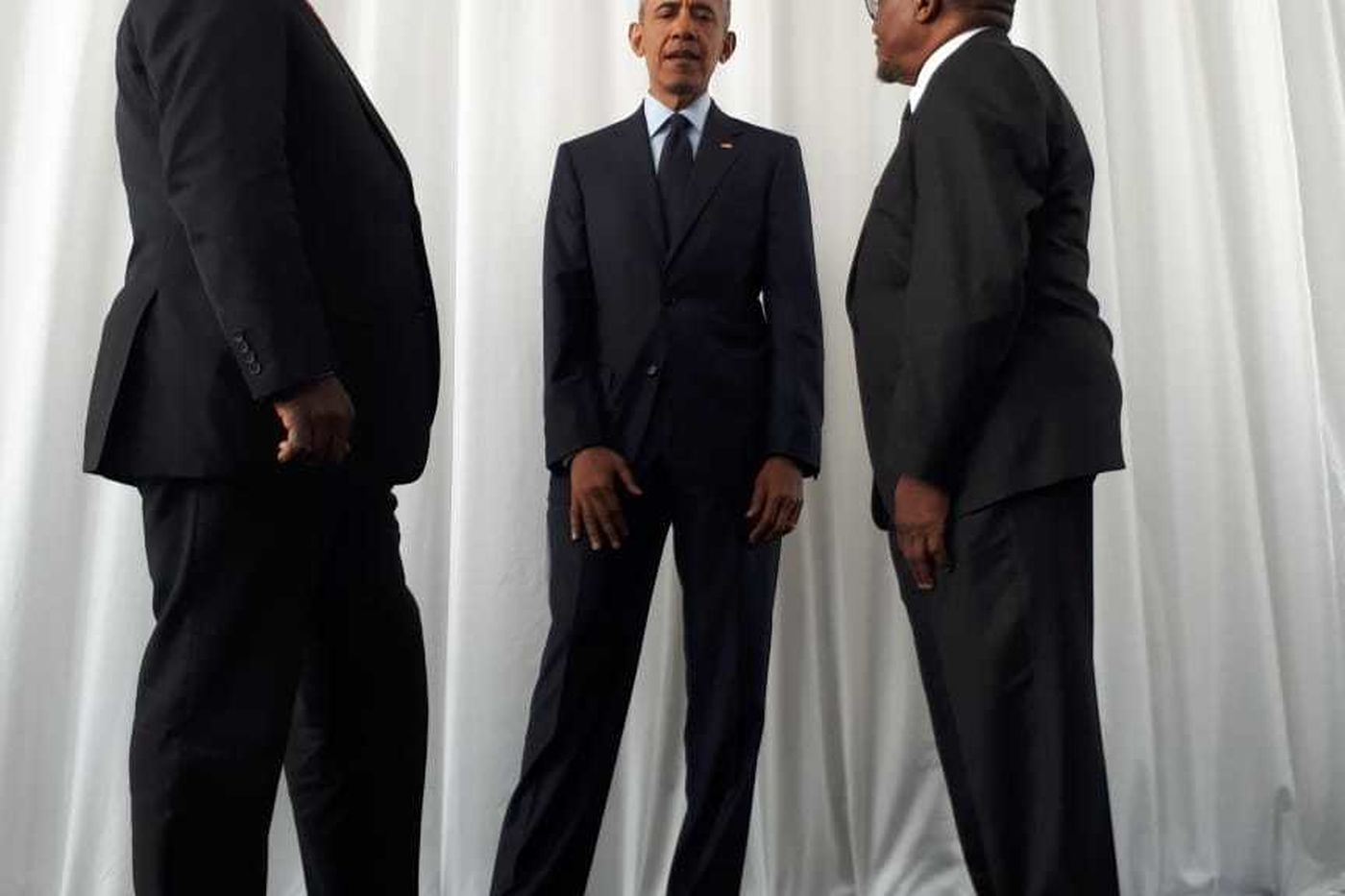 NMAL16 Ramaphosa Obama And Ndebele Before The Lecture