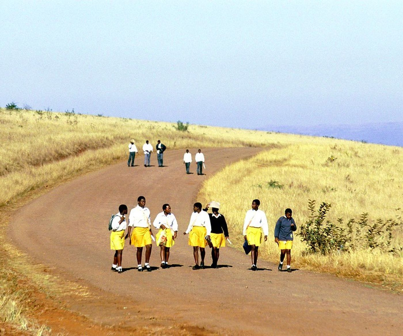 Children Walk To School