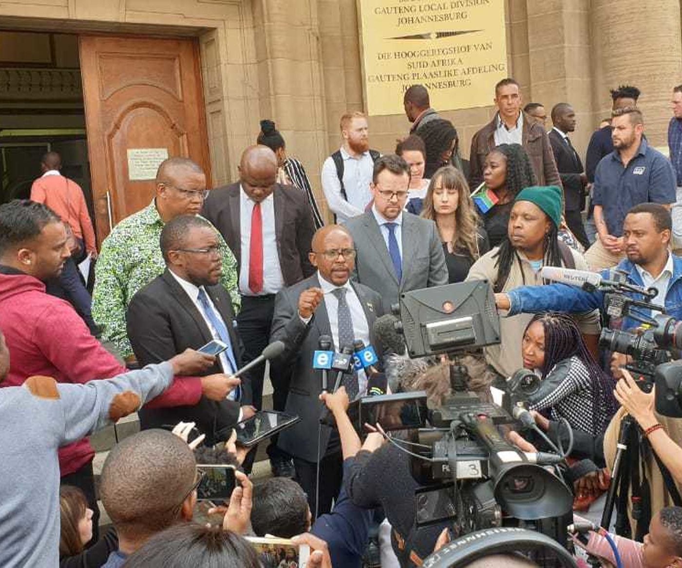 NMF CE Sello Hatang Addresses Media Outside High Court 2