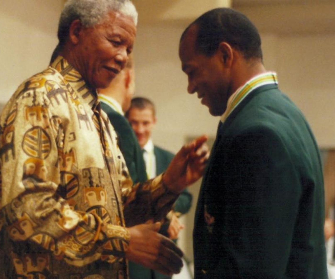 Nelson Mandela And Chester Williams