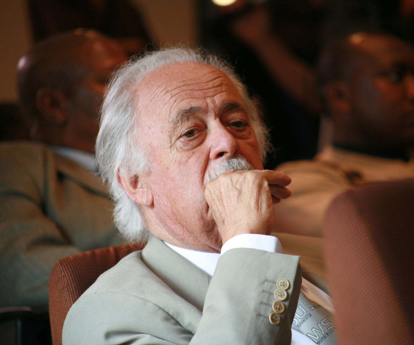 George Bizos at a Nelson Mandela Foundation event