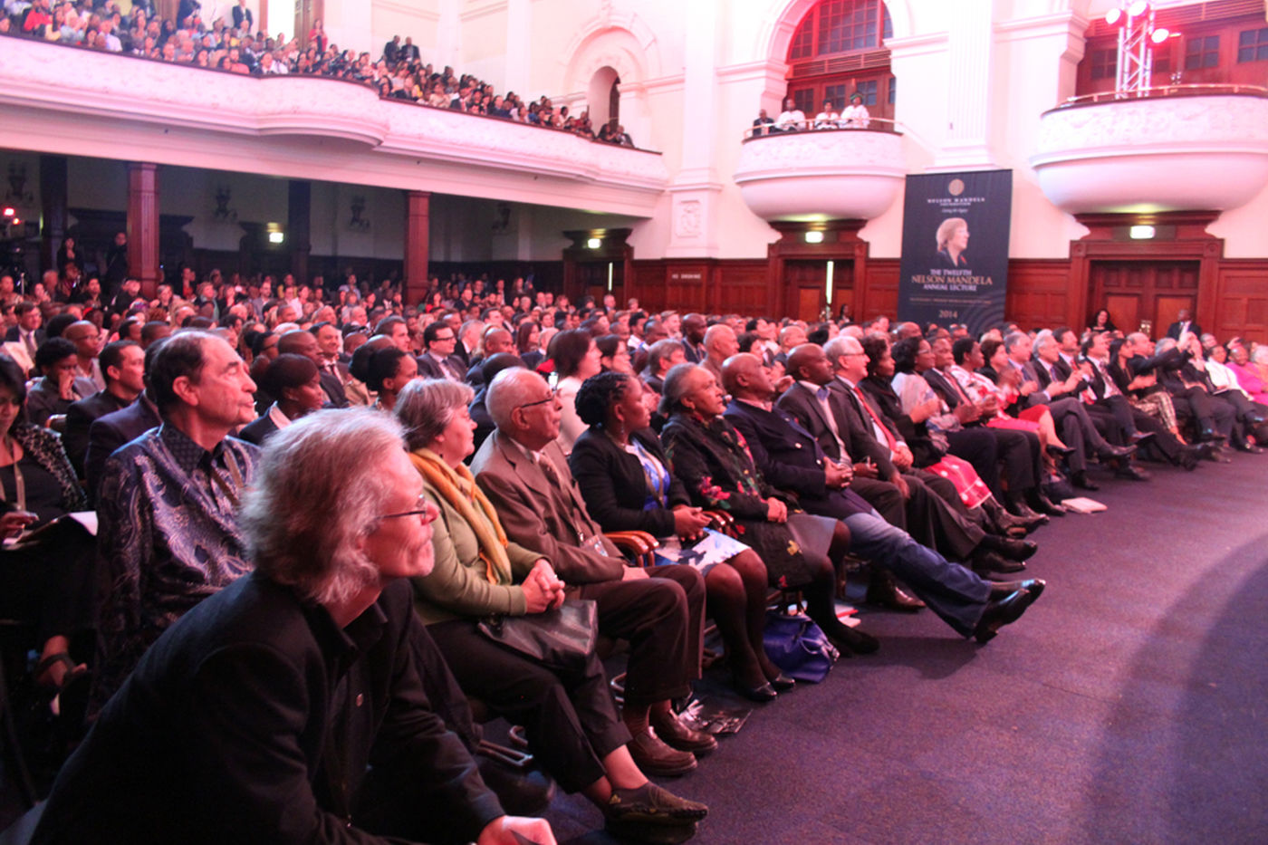 Nelson  Mandela  Annual  Lecture 2014   Crowd 1