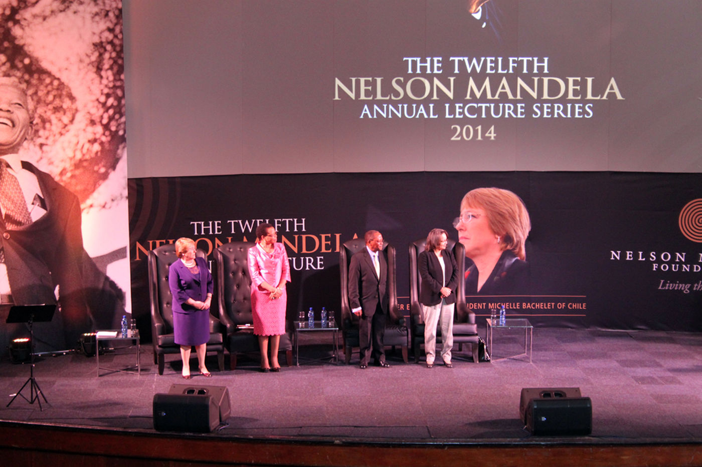 Nelson  Mandela  Annual  Lecture 2014   Stage With Speakers