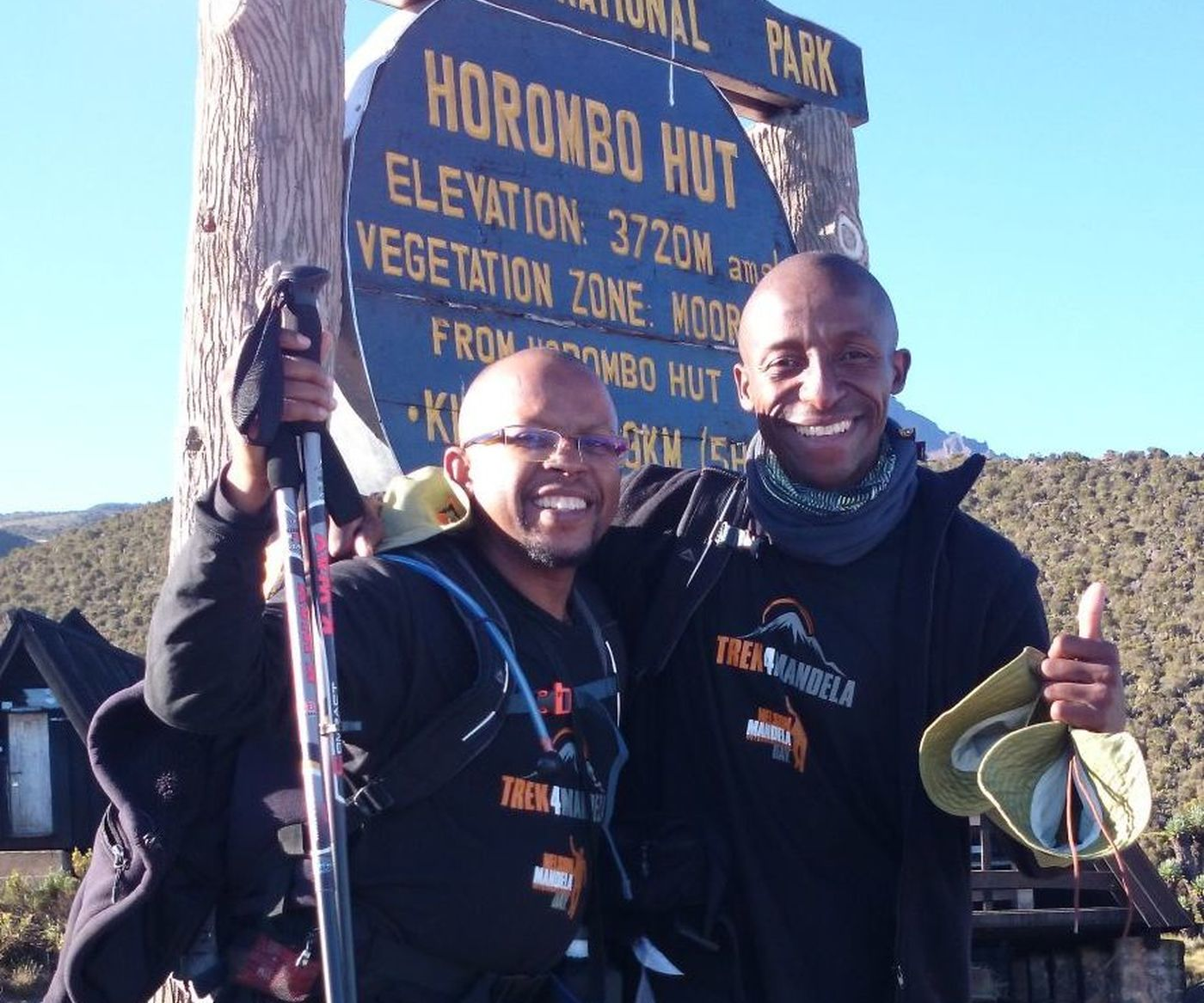 Sello And  Richard At  Horombo  Hut2