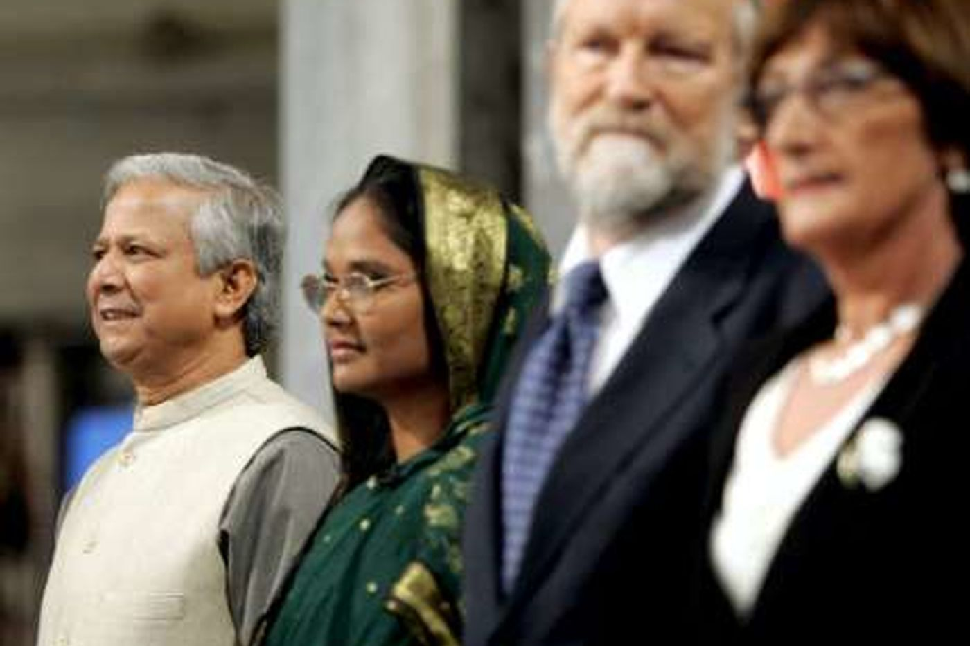 Prof  Yunus At  Nobel  Prize Giving Ceremony