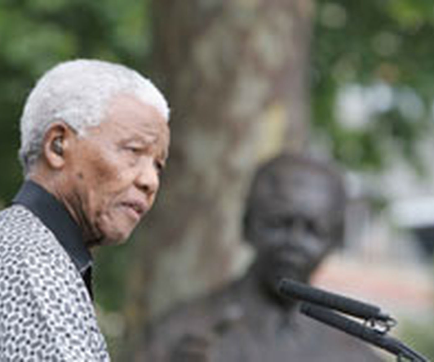 Madiba Statue Speaking